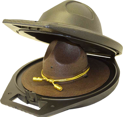 Hard Plastic Campaign Hat Trap