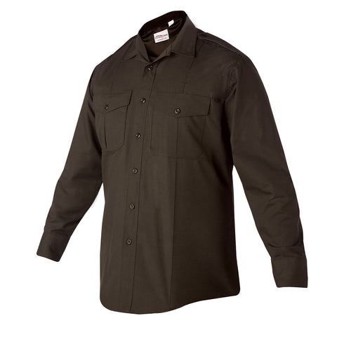 Flying Cross Class B Style Long Sleeve Brown Uniform Shirt