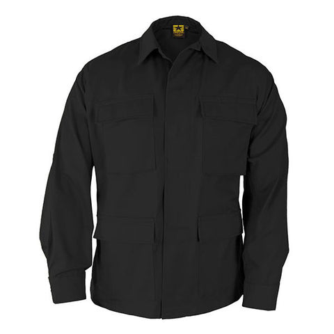 Propper Poly/Cotton Ripstop Long Sleeve 4-Pocket BDU Shirt- Black