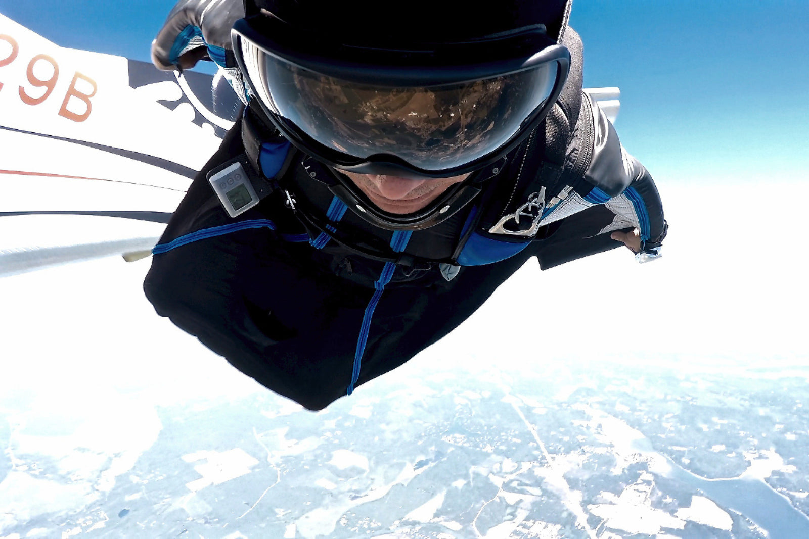 Zach Carbo skydiving