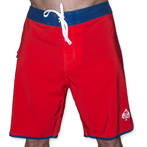 Dakar Board Short - Red and Blue