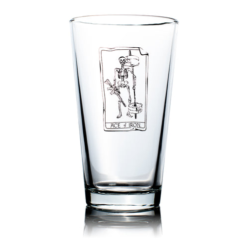 Ace of Iron Pint Glass