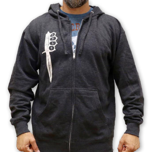 Trench Knife Zip-Up Hoodie