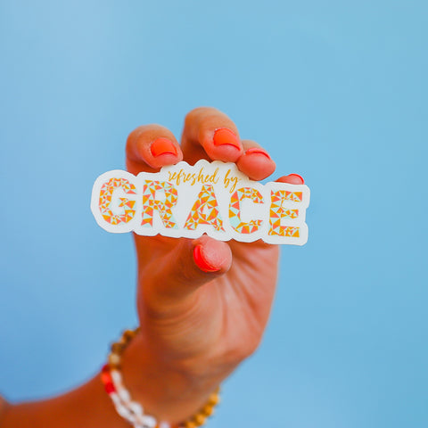 """Refreshed by Grace"" Sticker"