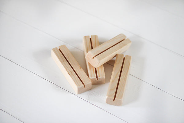 Single Card Wood Stand Add-On