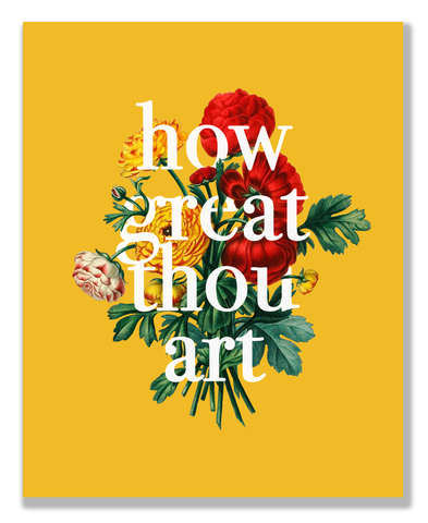 """How Great Thou Art"" 8x10 Print"
