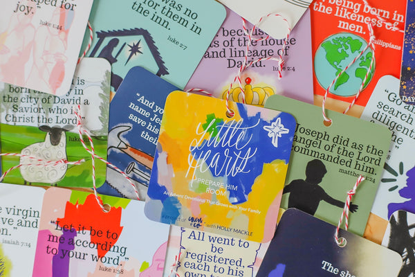 """Little Hearts, Prepare Him Room"" Advent Cards + Devotional"