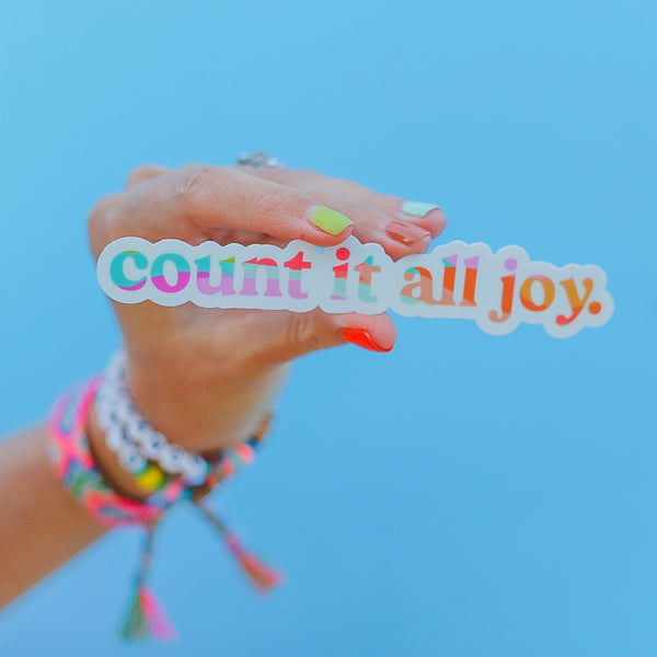 """Count It All Joy"" Sticker"