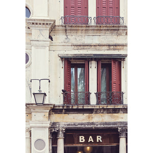 Bar in Venice | Venice Wall Art Photography Print 2x3