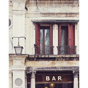 Bar in Venice | Venice Wall Art Photography Print 4x5