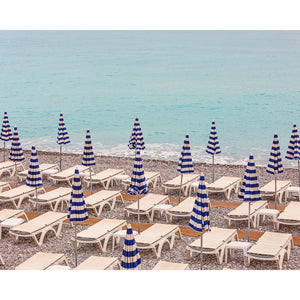 Beach Umbrellas in Nice France Photography