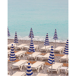 Beach Umbrellas in Nice Photography Print