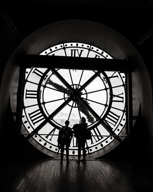 Black and White Paris Photography Print | Clock Photo