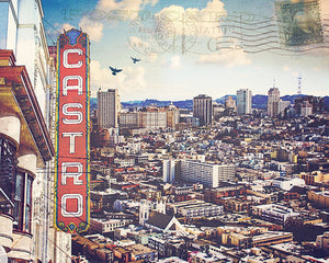 Castro San Francisco Digital Art Print | Melanie Alexandra Photography