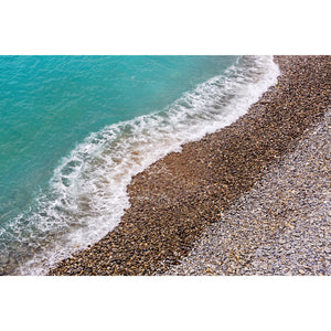 French Riviera Shoreline Art Print