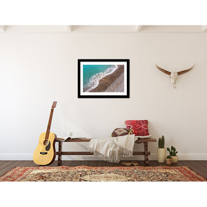 South of France Shoreline Wall Art Print