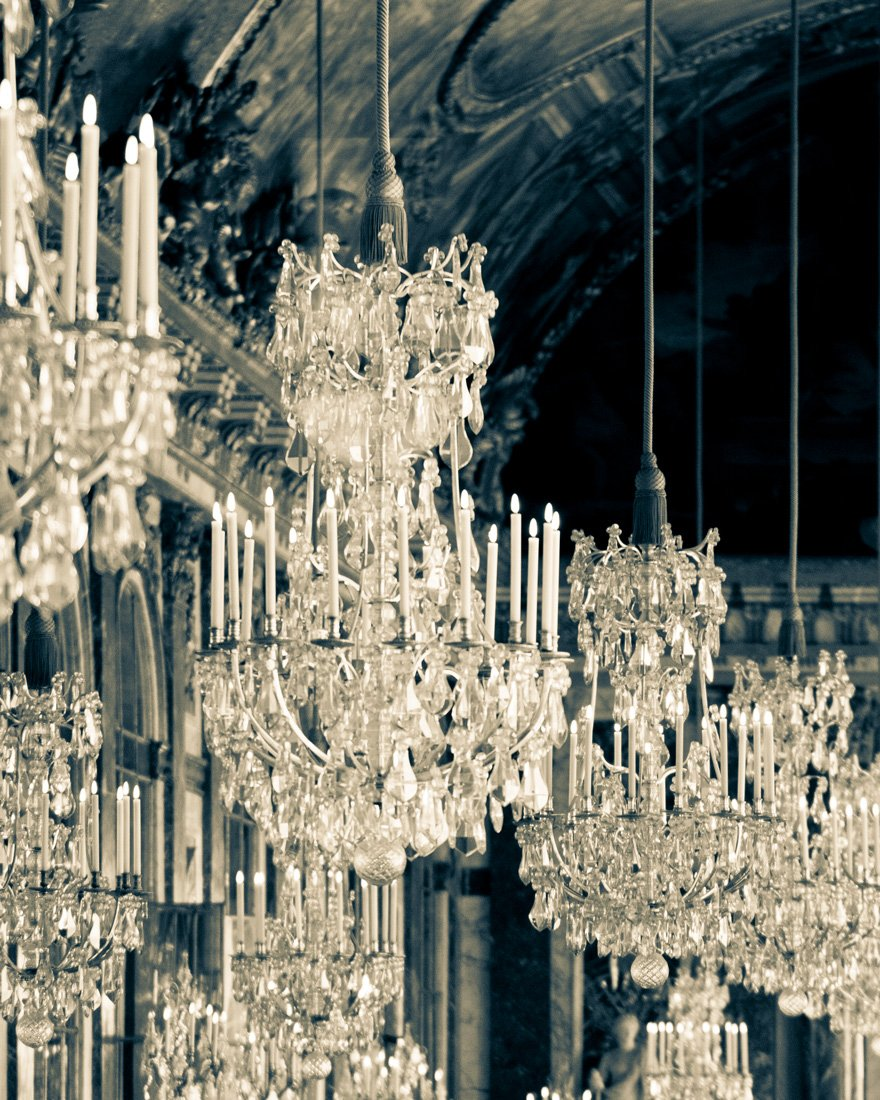 Paris Versailles Chandelier Photography Print