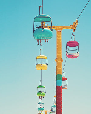 Santa Cruz Beach Boardwalk Gondolas Art Print