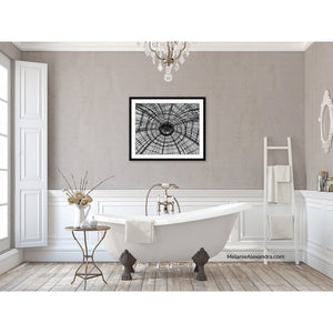 Paris Ceilings | Paris Decor Art Print in Black and White