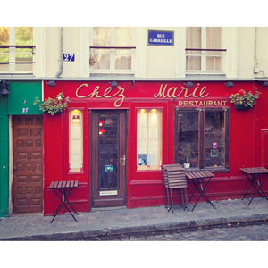Chez Marie Paris Cafe Photograph