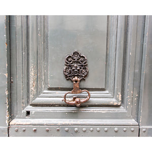 Paris Apartment | Grey Door Knocker Print