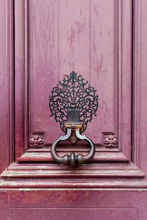 Paris Door Knocker II Wall Art Print