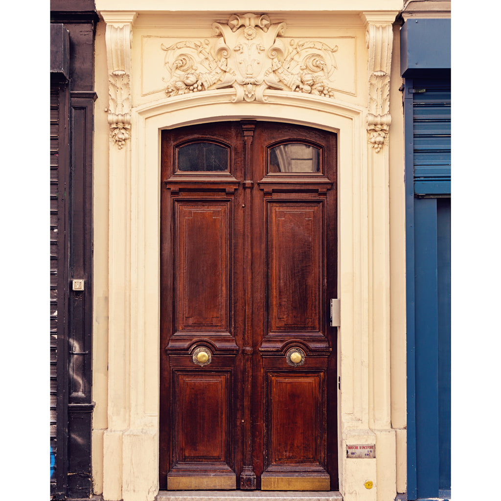 Paris Doors Harvest Basket Photograph 4x5