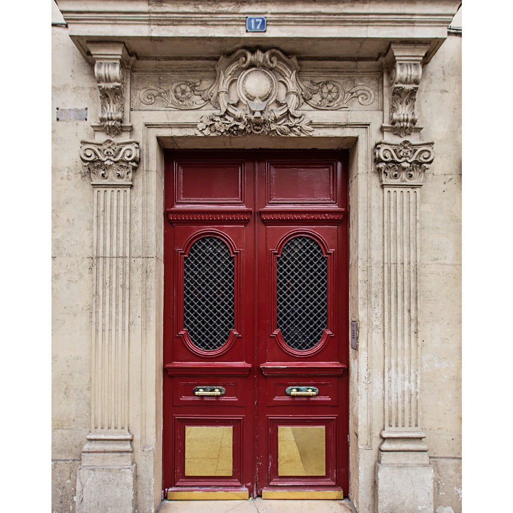 Red Paris Doors No. 17 | Photography Print
