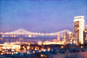 San Francisco Bay Bridge Bokeh Wall Art Print