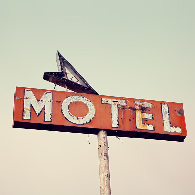 Vintage Route 66 Motel Sign Wall Art