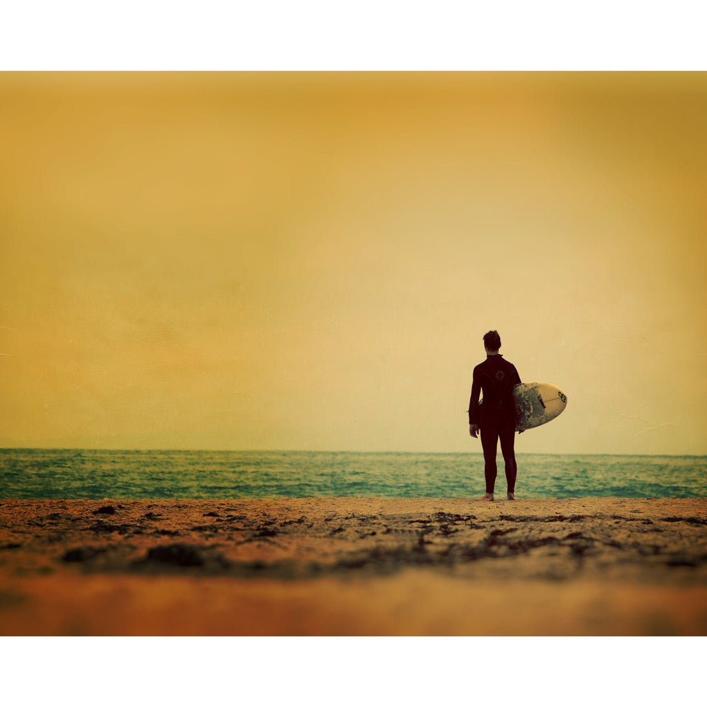 Waiting In Venice | California Surfer Art Print