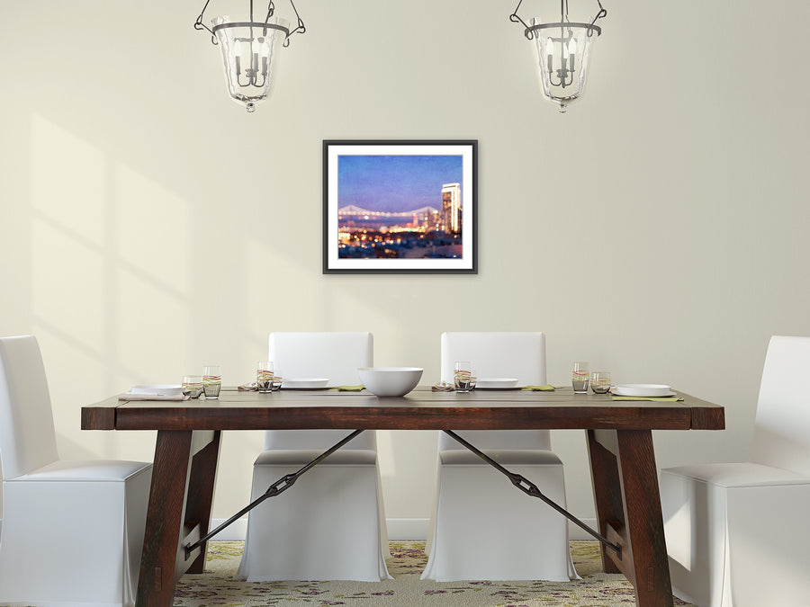 Bay Bridge Glow | San Francisco Wall Art Decor