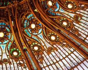 Ornate Dome Ceiling in Paris, France