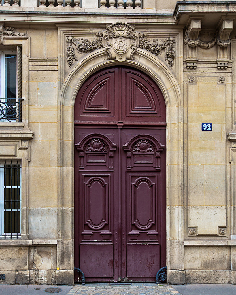 Plum Door in Paris France | Paris Photography by Melanie Alexandra
