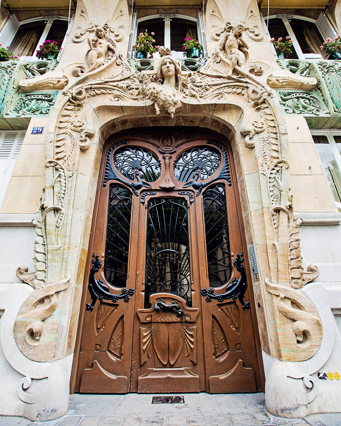 PARIS ART NOUVEAU DOORS | Paris Photography Prints by Melanie Alexandra