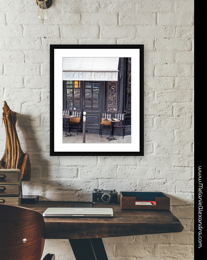Paris Cafe Photography Prints | Melanie Alexandra Photography