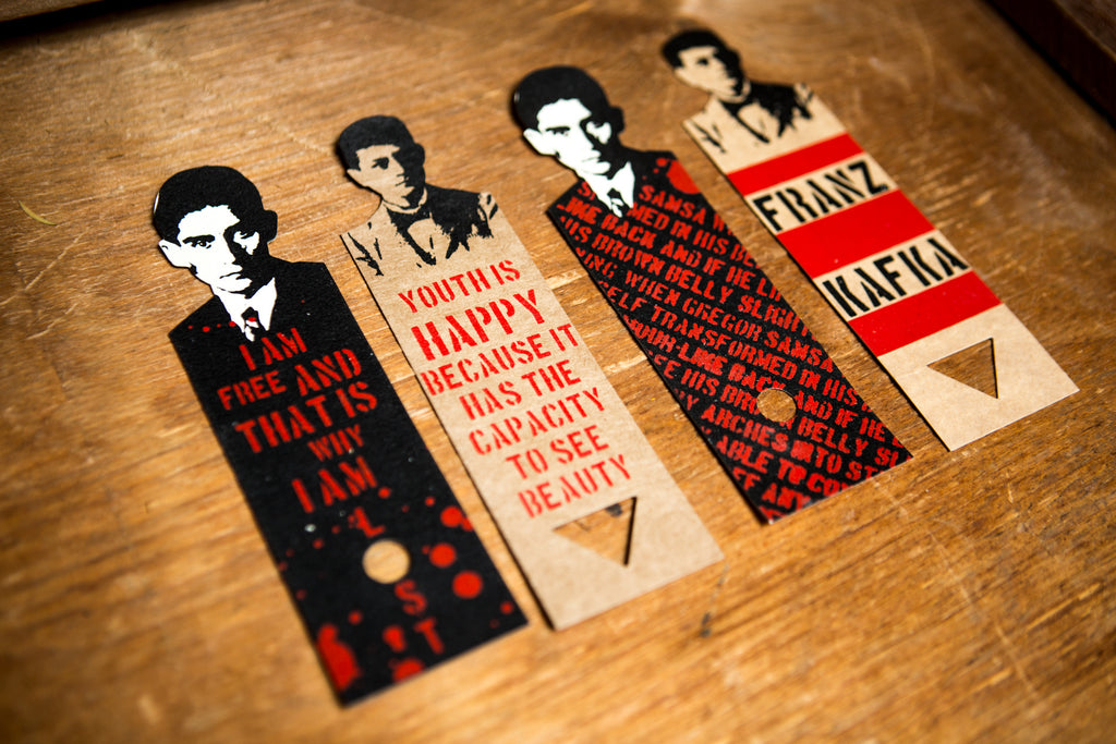 Bookmarks for Mucha Museum and Franz Kafka Museum
