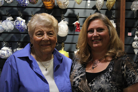 Store Director Sarah Jane Wick (right) with Master Folk Artist Marj Nejdl (left)