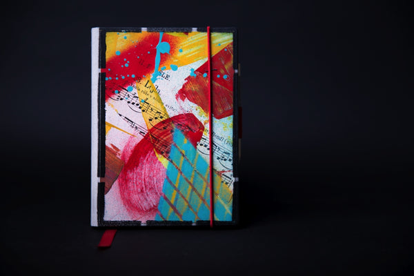 Set of the mini notebooks - Red Face - number 5