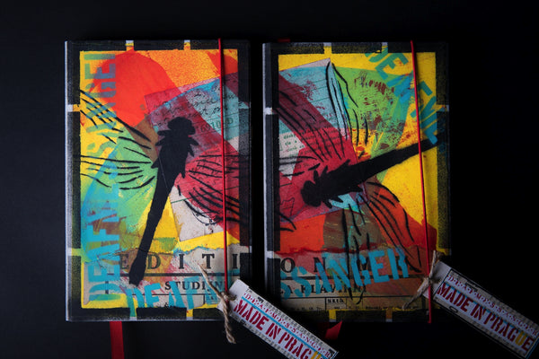 Set of the medium notebooks - Dragonfly - number 7