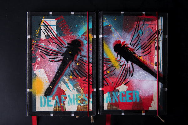 Set of the medium notebooks - Dragonfly - number 11