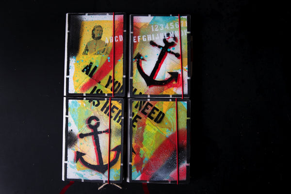 Set of the mini notebooks - Anchor - number 23