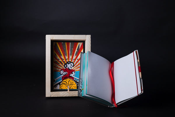 Rowing - medium notebook with frame