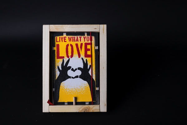 Hands heart - medium notebook with frame