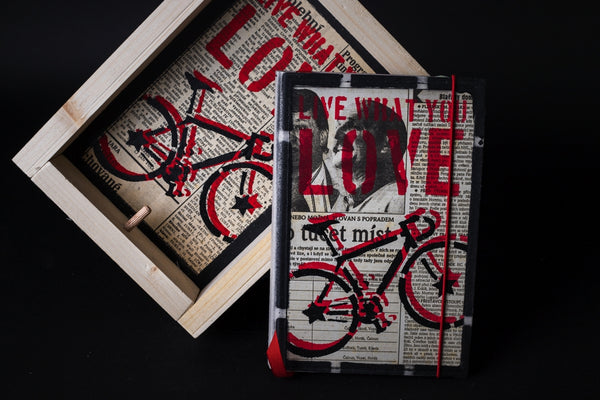 Bike - medium notebook with frame