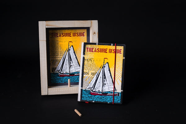 Treasure inside - mini notebook with frame