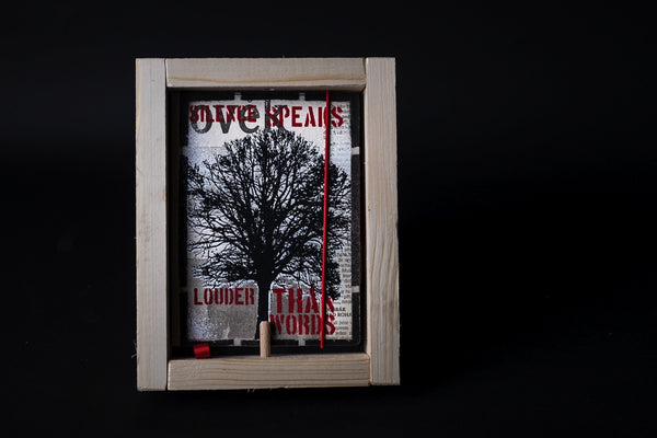 Silent tree - mini notebook with frame