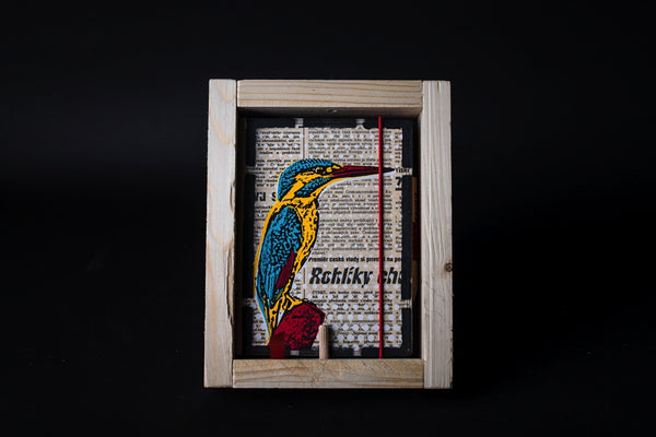 Kingfisher - mini notebook with frame