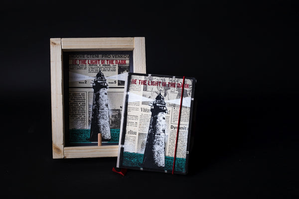 Lighthouse - mini notebook with frame