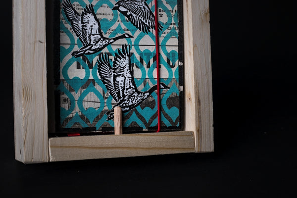 Wild goose - mini notebook with frame